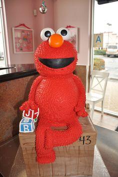 Sesame Street Elmo Cake