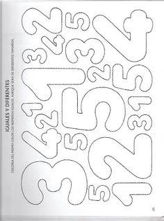Dikkat artırıcı resim boyama Math Activities For Kids, Counting Activities, Montessori Activities, Preschool Math, Math For Kids, Kindergarten Activities, Quiet Book Templates, Coloring Book Art, Alphabet And Numbers
