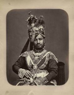 H.H. Raja Sir Ranjit Singh Ji of Ratlam  13th Raja of Ratlam (1864 - 1893) By Rohit Sonkiya