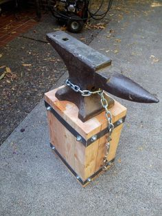 Made a stand for my grandfather's old anvil - Imgur