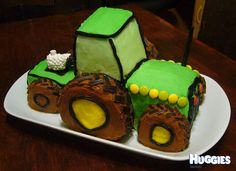 How to Make a Tractor Cake Picture Tutorial Cake pictures Tractor