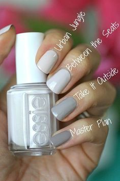 Essie Bridal 2016 Between the Seats ; Essie Bridal 2016 Between the Seats ; Cute Nails, Pretty Nails, Pretty Nail Colors, Nail Colour, Hair And Nails, My Nails, Nail Art Vernis, Nagellack Trends, Manicure Y Pedicure