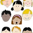 Free! Feelings! Kids in Action: Faces 2 FREE Clip Art!  Help children of all abilities describe how they feel!
