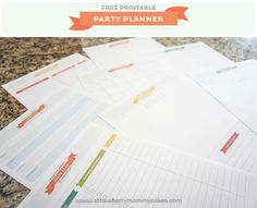 FREE Printable Party Planner from strawberrymommycakes.com