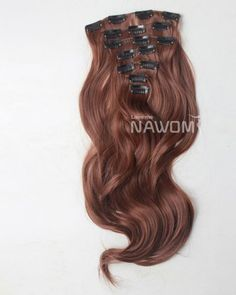 18'' High Quality Curly Clip In Hair Extension Red Brown #30 901B-30-45 - $19.99 : wigs outlet