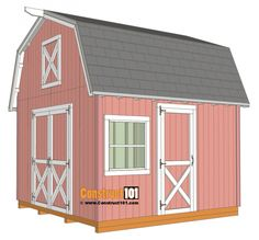 Diy storage shed plans free. So if you need a tool shed, garden shed a small shed to use as a study or for any other purpose you can find it among DIY shed plans. Wood Shed Plans, Free Shed Plans, Shed Building Plans, Coop Plans, Garage Plans, Garage Ideas, Door Ideas, Building Ideas, Building Design
