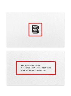 Identité visuelle réalisée pour l'artiste Bennie Blanco