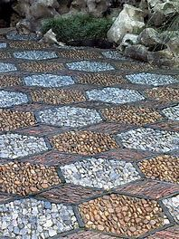 Image result for Mosaic Path Mosaic Walkway, Pebble Mosaic, Mosaic Diy, Mosaic Garden, Stone Mosaic, Mosaic Ideas, Garden Paving, Garden Paths, Landscape Design