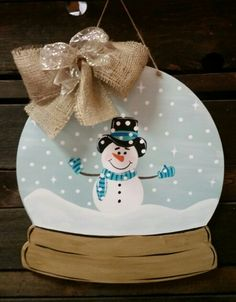 Snow globe door / wall hanging