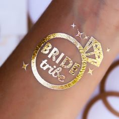 Bride Tribe & Bride to be bachelorette party tattoo. Loving these diamond rings!! to cute!!!  www.tats4now.com