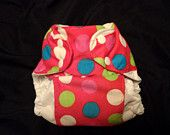 Bright Red Happy Baby One Size Pocket Diaper
