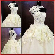 YZ New Arrival Gorgeous Luxurious Swarovski Crystals Bridal Wedding Dress XAXV