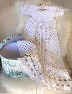Crochet pattern for Christening dress, Baptism dress, Heirloom special occasion dress.