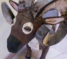 Felipe Archuleta Folk Art | Mexican Ram New Mexican Folk Art Carving Attributed to Leroy Archuleta ...