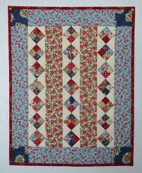 Americana Diamonds Doll Quilt | FaveQuilts.com...free pattern