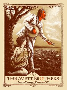 The Avett Brothers #GigPoster #BandPoster #Music #Live #Art