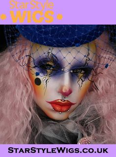 The sublime @rottenzombiefairy created this stunning 80's themed clown makeup look with the help of her Pink Fairytale Fantasy Wig. This extra long pastel fantasy wig is available now from Star Style Wigs for worldwide delivery. Click the image for full details.