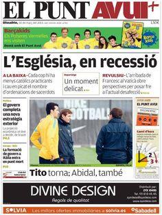 Los Titulares y Portadas de Noticias Destacadas Españolas del 30 de Marzo de 2013 del Diario El Punt Avui ¿Que le parecio esta Portada de este Diario Español?