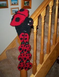 Cats-Rockin-Crochet Fibre Artist.: Crochet Ladybug, Beret and Scarf Set
