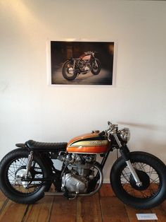 Honda CB | More here: http://mylusciouslife.com/stylish-home-luxury-garage-design/