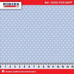 Estampa Mini Pois (Poá) Azul | Desenho GOLD POIS 86PFT . Disponibilidade de Larguras e Comprimentos sob consulta!