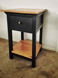 Dressed up Mini Farmhouse Bedside Table | Do It Yourself Home Projects from Ana White