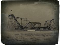 Hurricane Sandy brought high winds, storm surge and unthinkable damage to East coast. This a photo of the famous roller coaster along the Jersey shore. Massive flooding with heavy and high surface winds took power from thousands, some people became cut entirely due to the high water and damage, such as Coney Island. The East Coast cities from Hampton Roads north to Massachusetts will have visible scars from this natural disaster for years to come.