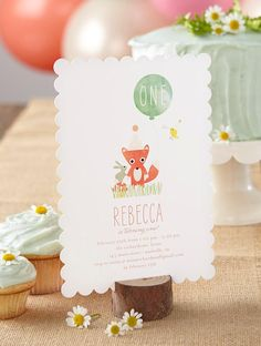 Celebrate your baby's first birthday with an adorable woodland-themed party. There are so many fun directions to go with this theme! Unique Invitations, Baby First Birthday, Party Themes, Party Ideas, Custom Cards, Birthday Party Invitations, Event Planning, First Birthdays, Woodland