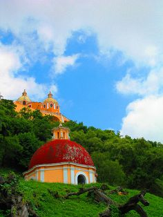 Cathedral Built on The Cholula Pyramid, Mexico