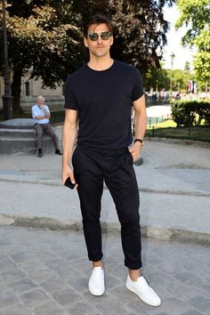 44 Most Popular Mens Summer Outfits Ideas for 2018 - Mode Mode Outfits, Casual Outfits, Fashion Outfits, Dress Casual, Cool Outfits For Men, Summer Outfits Men, Casual Wear, Fashion Mode, Trendy Fashion