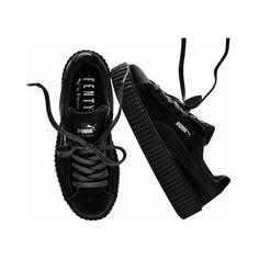 ad05df6f44a9c9 Puma x Rihanna Creepers Velvet Fenty Black Size 5-10 ( 185) ❤ liked
