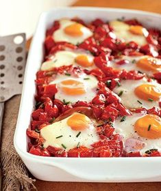 Shirred Eggs   Real Simple Recipes
