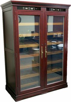 4000 Cigar Electronic Humidor - Reagan Commercial Cabinet Standing Display Case