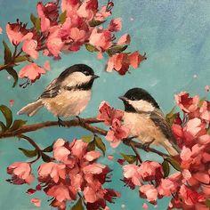 "Daily Paintworks - Original Fine Art © Krista Eaton : """"Lovin' You"""" original fine art by Krista Eaton Bird Paintings On Canvas, Bird Painting Acrylic, Mini Canvas Art, Animal Paintings, Painting & Drawing, Watercolor Art, Afrique Art, Guache, Art Original"