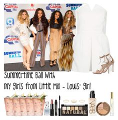 """Summertime Ball with my girls from Little Mix - Louis' girl"" by fxrever-isnt-for-everyone ❤ liked on Polyvore featuring Topshop, Gianvito Rossi, NARS Cosmetics, NYX, Lord & Berry, H&M and Marc Jacobs"