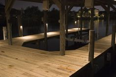 Dock lighting: George Jacobs fully illuminates a boat dock in a subtle and unobtrusive way with CAST Deck Lights. Pin this outdoor lighting idea!