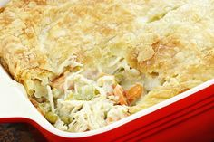This delicious, traditional turkey pot pie is flaky and the perfect comfort food.