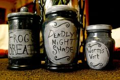 Nightmare Before Christmas  Jar Set by OctoberInferno on Etsy, $60.00