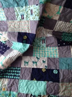 Baby quilt cotton & steel fabrics