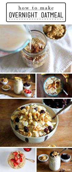 Overnight oatmeal is your answer to eating a healthy breakfast every morning! Mornings are always a rush, so make this recipe the night before and don't think twice or run out hungry in the morning: http://www.ehow.com/how_12340509_make-overnight-oatmeal.html?utm_source=pinterest.com&utm_medium=referral&utm_content=inline&utm_campaign=fanpage