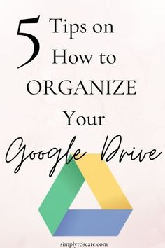 The key to staying organized as a student, specifically with online classes, is to constantly organize your Google Drive. Here is how you can organize your Google Drive in 5 EASY steps. #googledrive #google #techtips #online