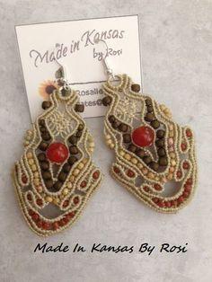 Macrame Earrings, Macrame Jewelry, Jewlery, Crochet Earrings, Pixie Cut, Beautiful Earrings, Kansas, Beading, Jewelry Making