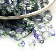 4 Grams - 3mm Firepolish Blueberry Green Tea Czech Glass Beads - Facet – Unkamen Supplies