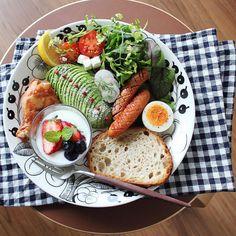 Healthy Cooking, Cooking Recipes, Healthy Recipes, Brunch Recipes, Breakfast Recipes, Jai Faim, Breakfast Platter, Good Food, Yummy Food