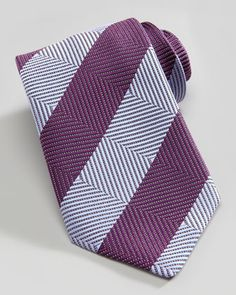 Grid Stripe Tie, Blue by Charvet at Neiman Marcus.
