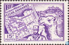1946 Fezzan - Map of Fezzan
