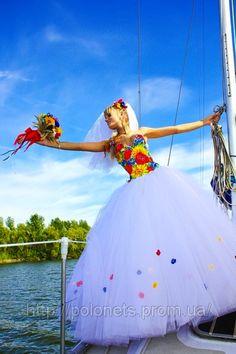 Ukrainian Style wedding gown