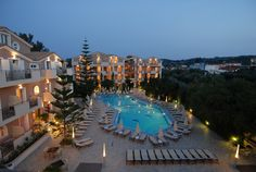 Contessina Hotel - Panoramic View (at night)
