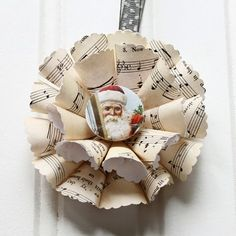 Sheet Music Christmas Ornaments - The Graphics Fairy