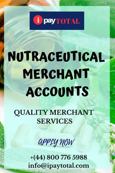 Nutraceutical merchant accounts are the merchant accounts that enables merchants to accept credit and debit card transactions and it also helps the merchant to increase the growth of their business. They can also do their business globally.